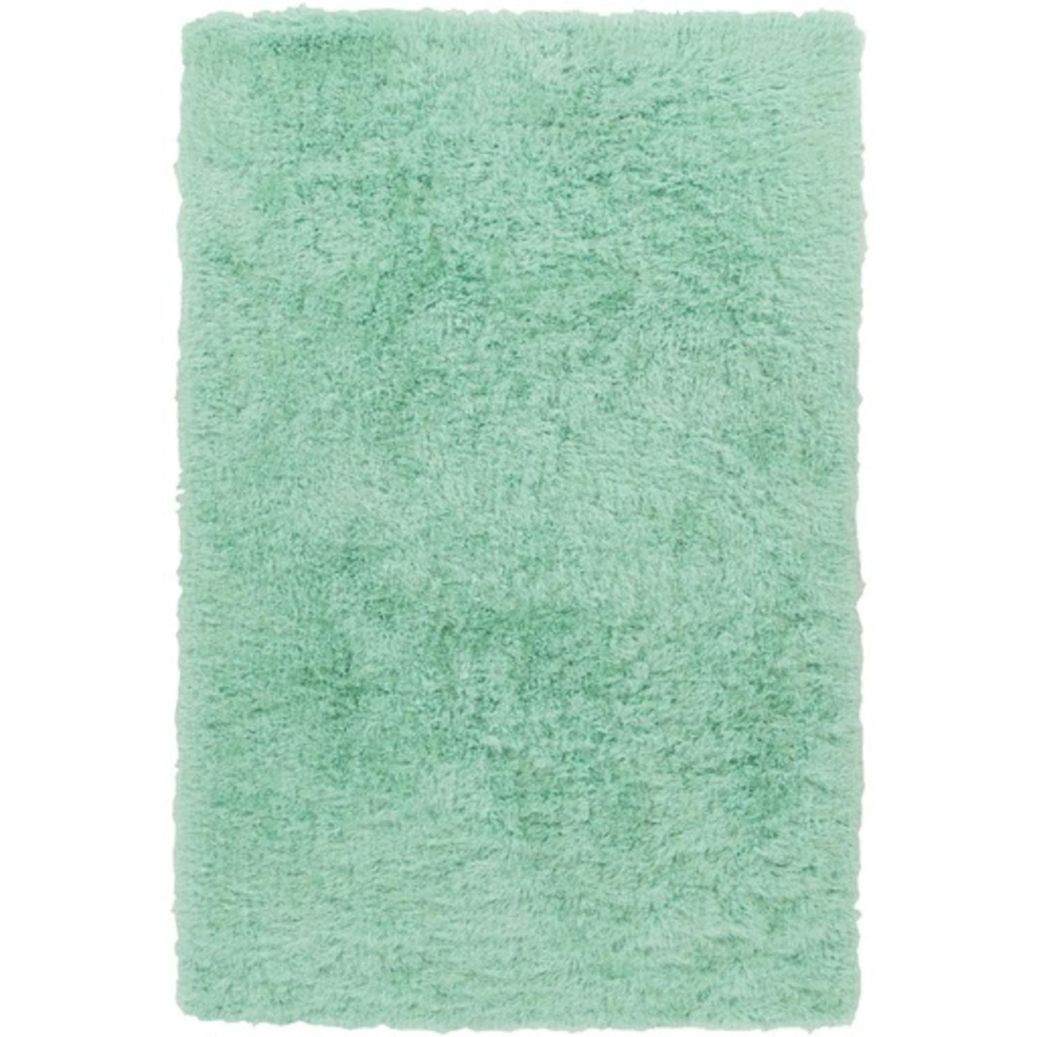 8 X 10 Fuzzy Fascination Naiad Green Hand Tufted Super