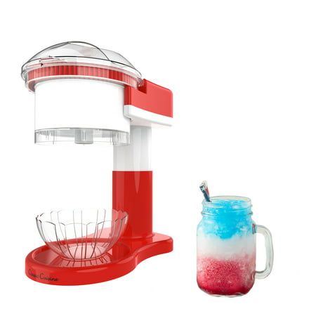 Shaved Ice Maker- Snow Cone, Italian Ice, and Slushy Machine for Home Use, Countertop Electric Ice Shaver/Chipper with Cup by Classic Cuisine