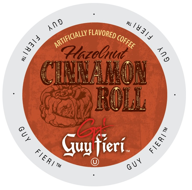 Guy Fieri Coffee Hazelnut Cinnamon Roll, Single Serve Cup Portion Pack for Keurig K-Cup Brewers, 96 Count