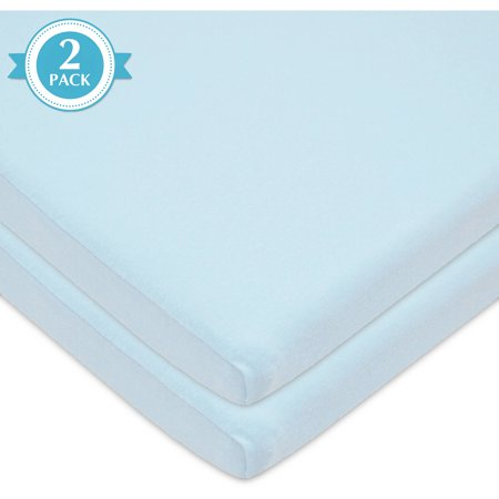 Bassinet Sheet (American Baby Company 2 Pack 100% Natural Cotton Value Jersey Knit Fitted Bassinet Sheet, Blue, Soft Breathable, for Boys and)