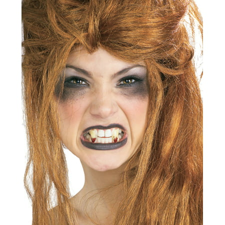 New Theatrical Quality Costume Bloody Vampire Fangs - Halloween Makeup Not Scary
