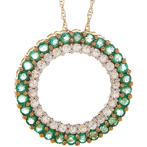 1.316 Carat T.g.w. Emerald And .78 Carat