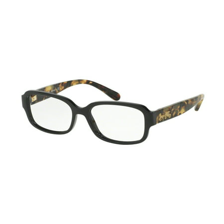 Coach 0HC6105 Full Rim Rectangle Womens Eyeglasses - Size 51 (Black/Dark Vintage (Coach Glasses On Sale)