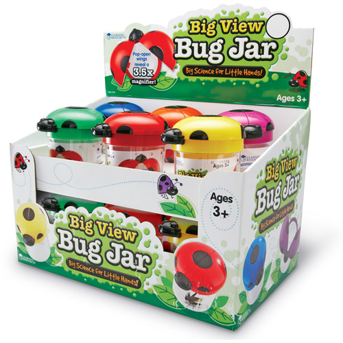 Learning Resources Big View Bug Jars, Set of 12