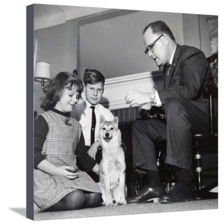 - Domestic Living Room Scene in Ohio, Ca. 1968. Stretched Canvas Print Wall Art By Kirn Vintage Stock