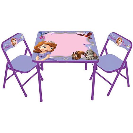 Disney Sofia the First Erasable Activity Table and Chairs Set ...