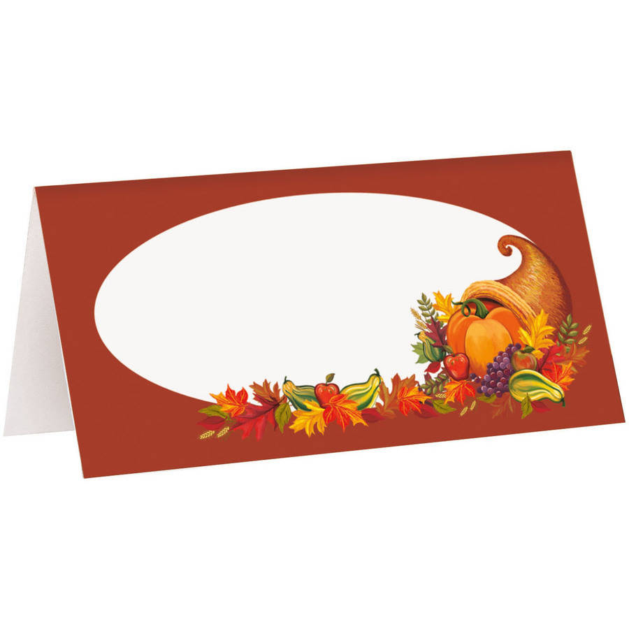 Harvest Fall Place Cards, 16ct