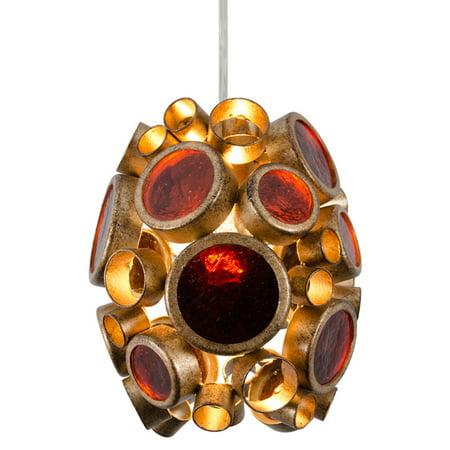 Varaluz - Fascination - 1 Light Mini Pendant - Kolorado Finish with Amber Recycled Bottle Glass ()