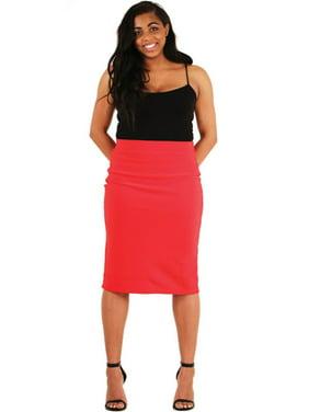 f3271eb201d5 Product Image LAVRA Women's Plus Size Elastic High Waist Pencil Skirt Midi  Bodycon
