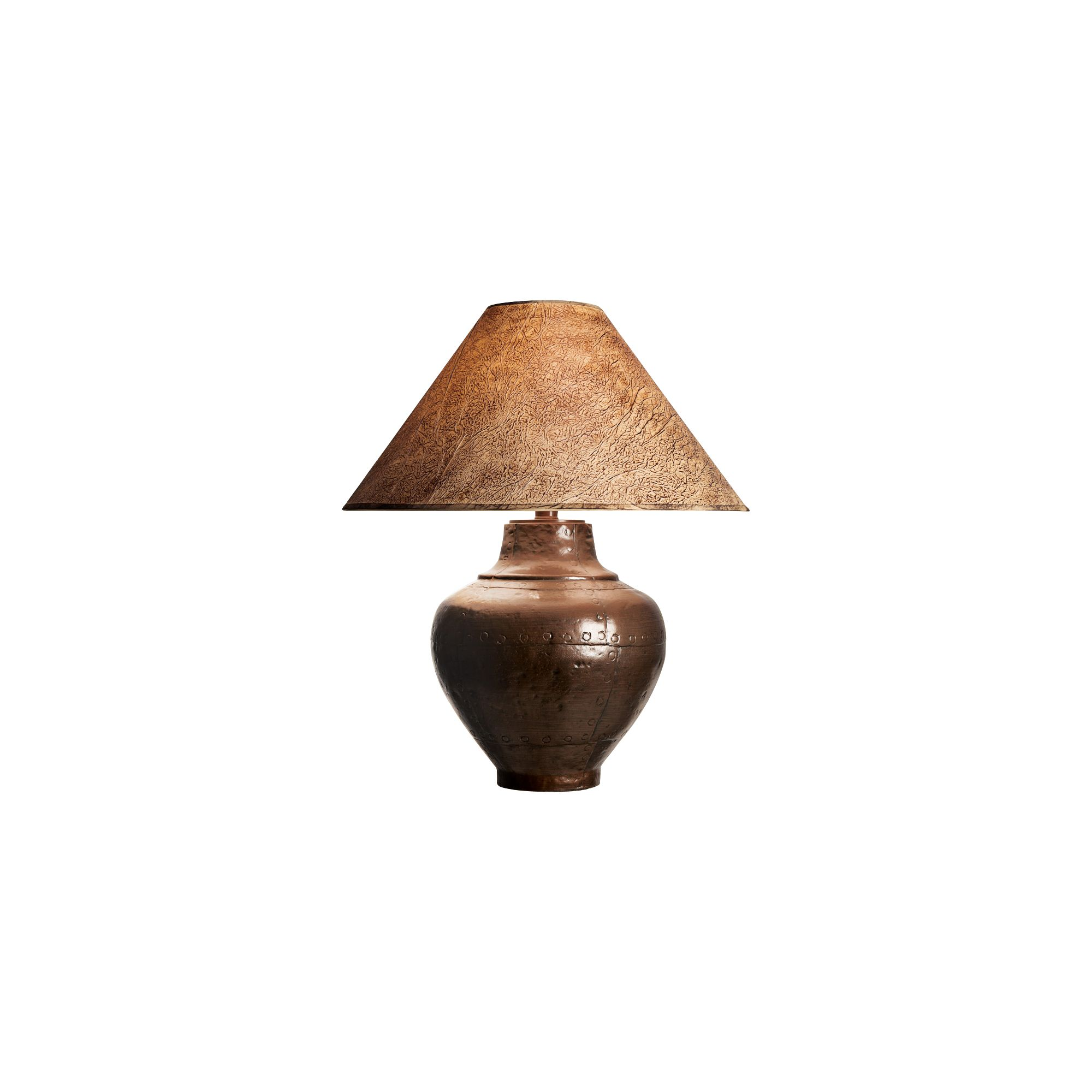 Keaton Copper Finish Southwest Table Lamp
