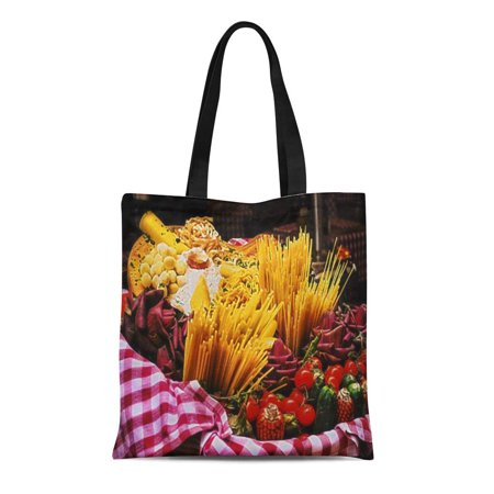 POGLIP Canvas Tote Bag Wall Italian Food Photography Home Still Life Reusable Handbag Shoulder Grocery Shopping Bags - image 1 de 1