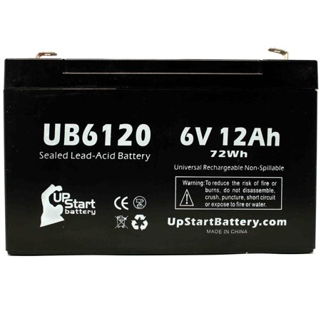 4x Pack - Tripp-Lite OMNIVS1000 Battery Replacement - UB6120 Universal Sealed Lead Acid Battery (6V, 12Ah, 12000mAh, F1 Terminal, AGM, SLA) - Includes 8 F1 to F2 Terminal Adapters - image 3 de 4