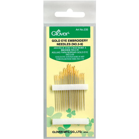 Clover Gold Eye Embroidery Needles-Size 3/9 16/Pkg