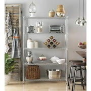 Whitmor Supreme 5 Tier Adjustable Shelving - 500 lb Weight Capacity Per Shelf - Leveling Feet