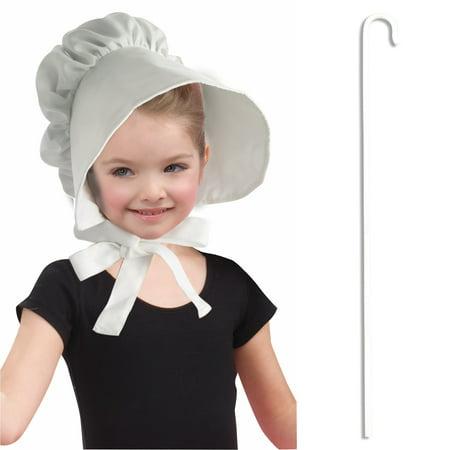 Little Miss Muffet Dress (Child Pilgrim Shepherd Woman Little Miss Muffet Bo Peep Costume Accessory)