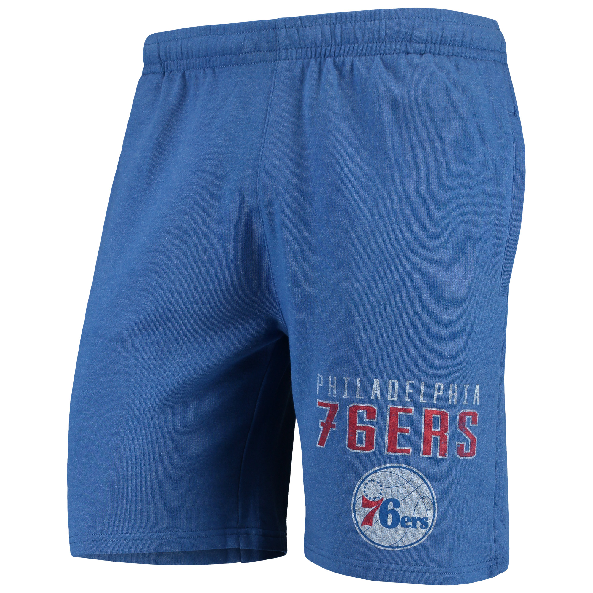 Philadelphia 76ers Concepts Sport Squeeze Play Knit Shorts - Heathered Royal