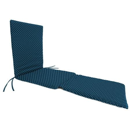Jordan Manufacturing 74 in. Knife Edge Outdoor Steamer Chaise Cushion - Mini Dots