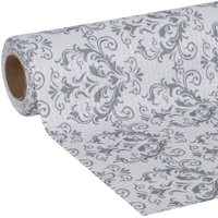 EasyLiner Smooth Top 20 In. x 6 Ft. Shelf Liner, Gray Damask