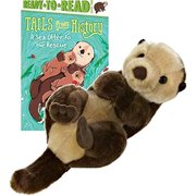 """Aurora World Miyoni Sea Otter Plush -9"""" Otter with Story Book Gift Set"""