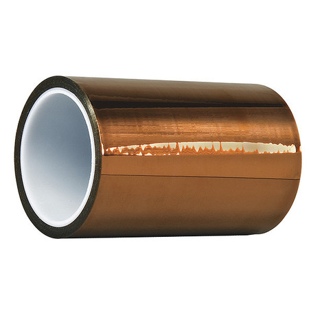 DUPONT Kapton HN Film Tape, Polyimide, Amber, 6 In. x 50 Ft. G4247966