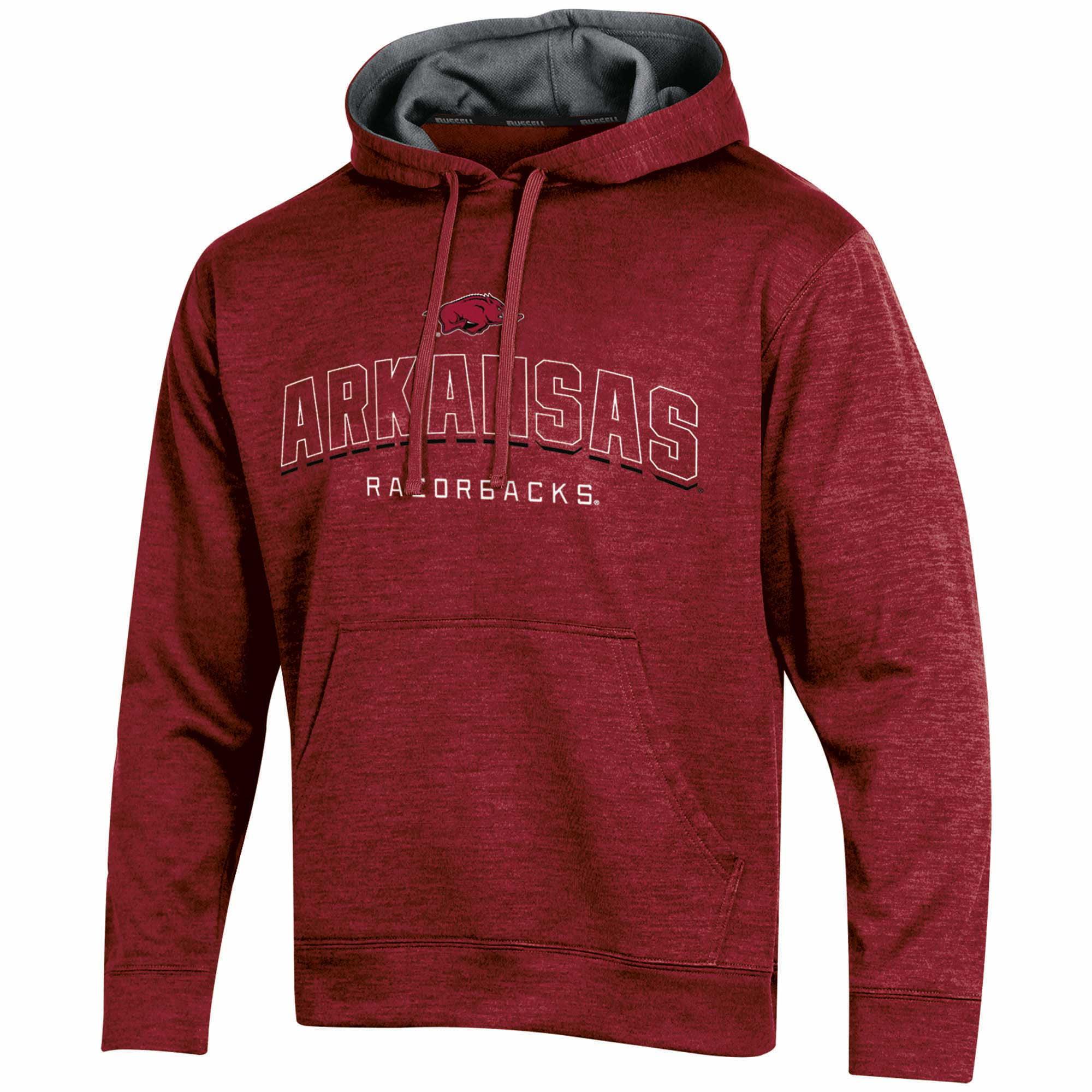Men's Russell Cardinal Arkansas Razorbacks Synthetic Pullover Hoodie