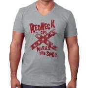 X Mark The Spot Funny Shirt Country Redneck Gift Idea Country V-Neck T-Shirt