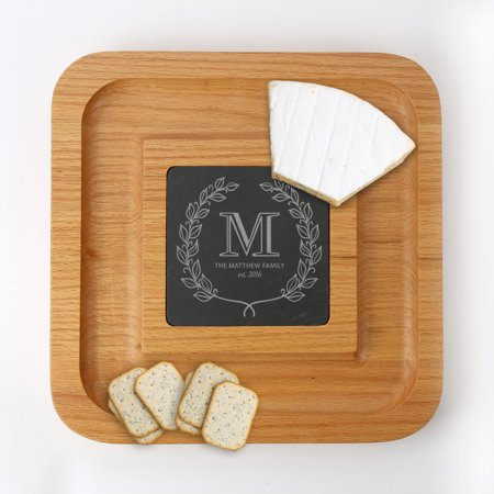 MonogramOnline Personalized Family Wreath Cheese Serving Platter