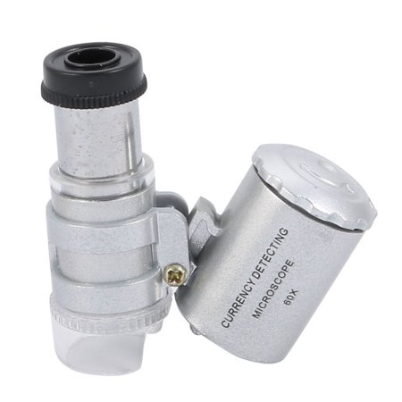 Magnifier Magnifying Glass Lens Currency Detecting Microscope 60X w  Light