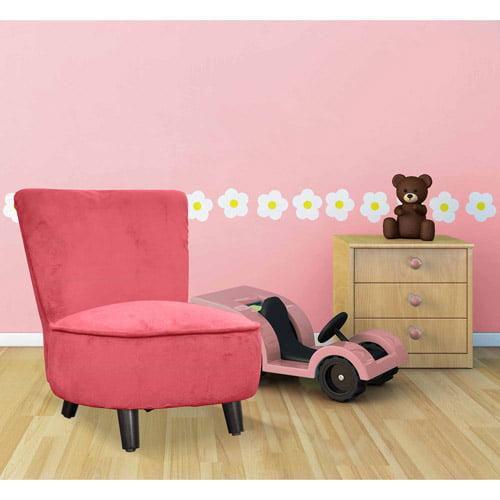 Mini Chevron Toddler Slipper Chair, Pink