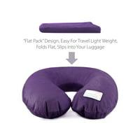 Dream Essentials Travel Flat Pack Neck Pillow -Purple
