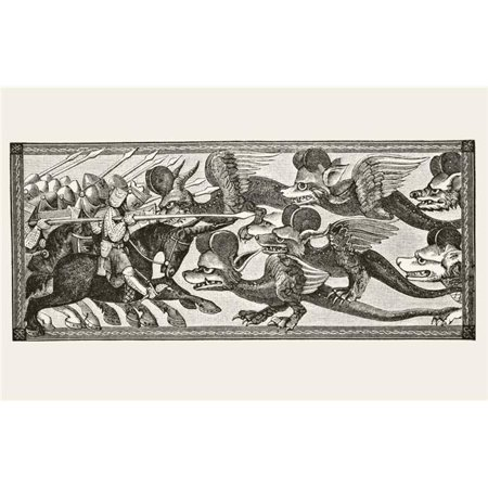 Posterazzi DPI1856440LARGE How Alexander Fought The Dragons with Sheeps Horns Upon Their Foreheads From Science & Literature In The Middle Ages Poster Print, Large - 36 x 22 - image 1 of 1