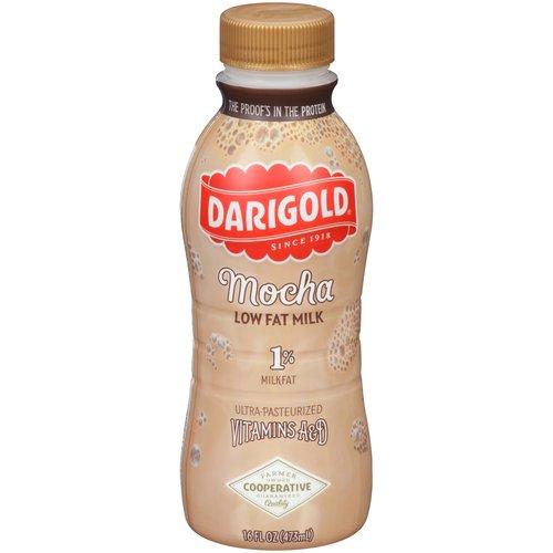 Darigold 1% Low Fat Mocha Milk, 16 oz