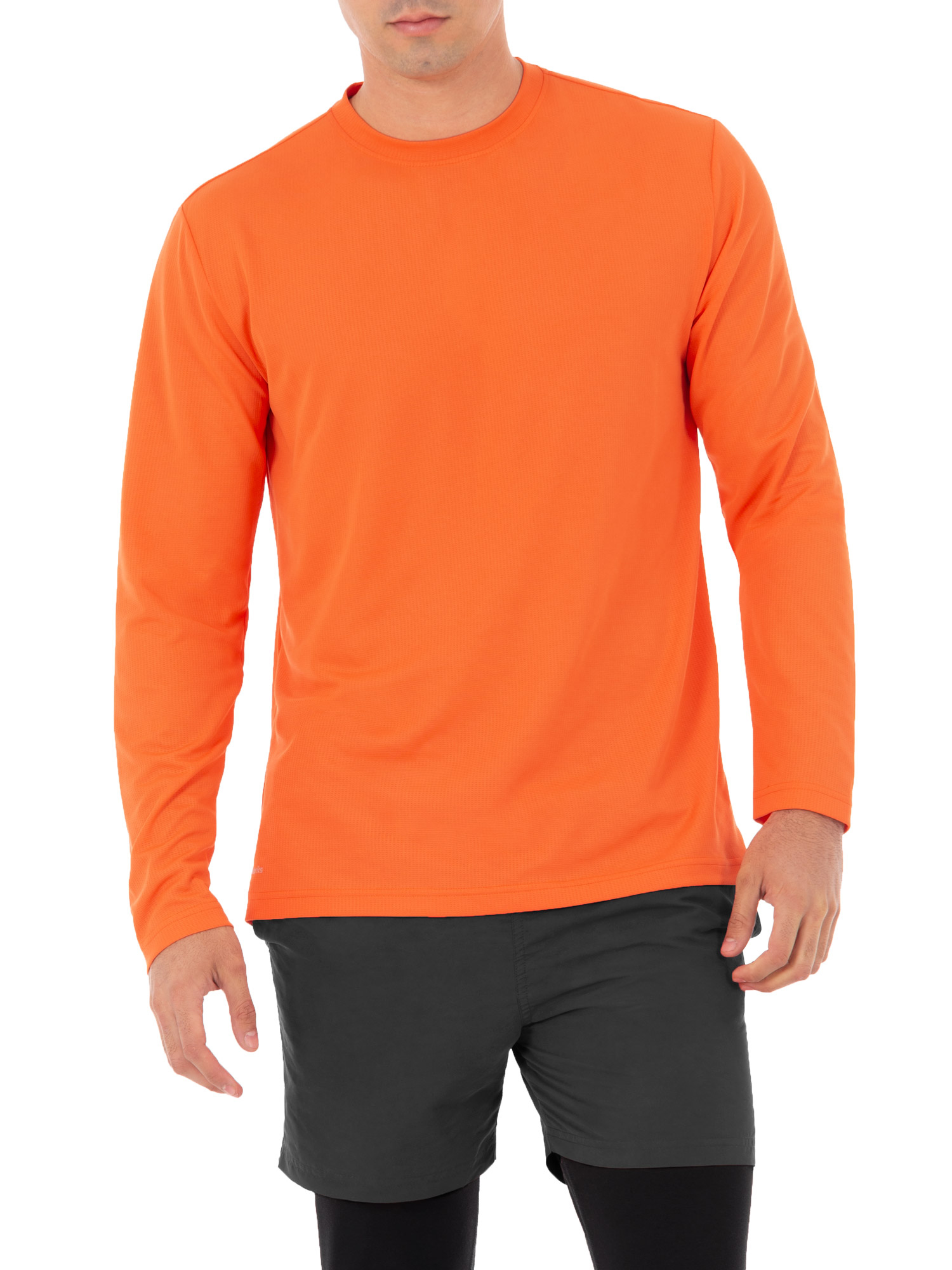 Athletic Works Men's Active Performance Long Sleeved Crew Neck Tee
