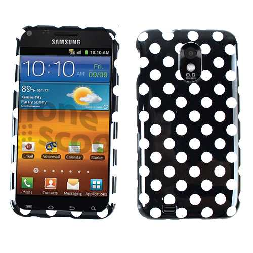 Unlimited Cellular Snap-On Case for Samsung Epic 4G Touch (White Dots on Black)