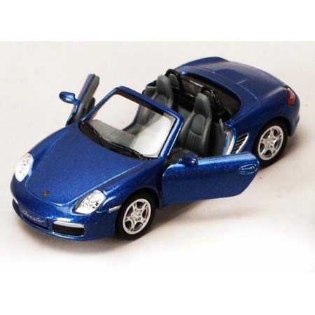 Porsche Boxster S Convertible, Blue - Kinsmart 5302D - 1/34 scale Diecast Model Toy Car (Brand New, but NOT IN BOX)