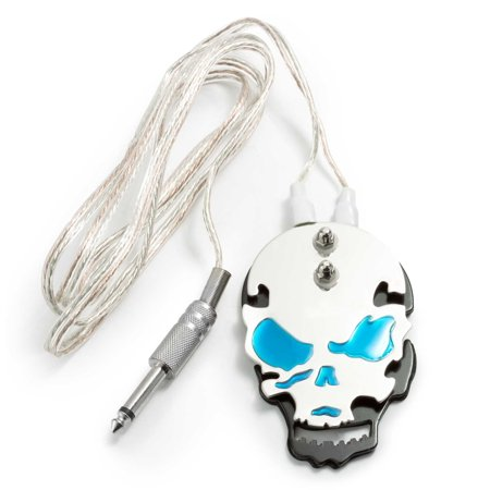 Flag Switch (AmeriVolt Flat Stainless Steel Skull Tattoo Foot Pedal Switch w/ 6.5 ft. Cord - Blue )