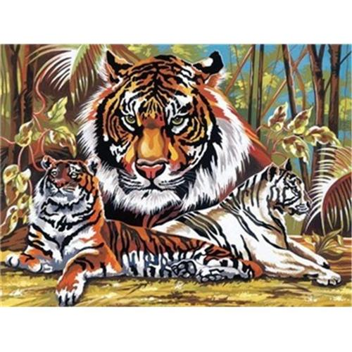 Art Supplies PL43 Tigers Paint By Number