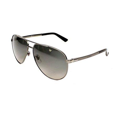 b6c8ff79e53f4 Gucci - Gucci GG 2269 S R80DX (Matt Silver with Black Gradient lenses) -  Walmart.com