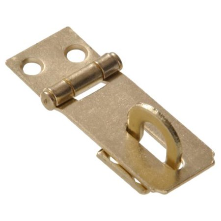 "2-1/2"" Fixed Staple Safety Hasps, Zinc/Yellow Dichromate Finish Hillman 851401"