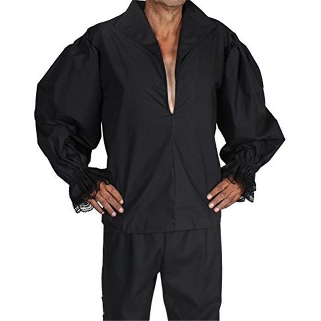 Alexander Costume 14-036-B Buccaneer Shirt, Black - Large - image 1 of 1