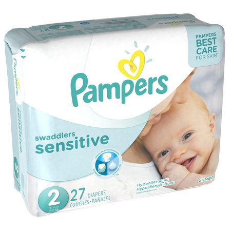 Pampers Swaddlers Sensitive Diapers, Size 2, 27 Diapers–Walmart-Cash Back