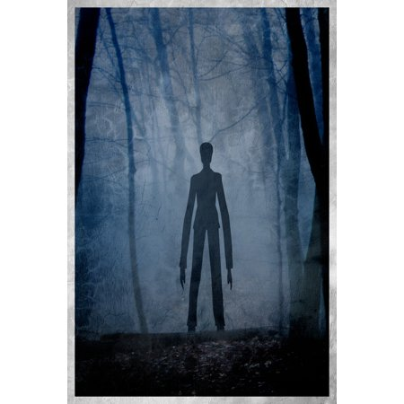 Slenderman Paranormal Unnaturally Tall Man Long Arms Treelike Poster   12X18 Inch