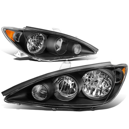 For 05 to 06 Toyota Camry XV30 Pair Black Housing Amber Corner Headlight Headlamps Left+Right OE Style 2005 Toyota 4runner Headlight