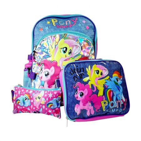 My Little Pony Backpack Set Lunch Bag Pencil Pouch Water - Pony Bottle Bags