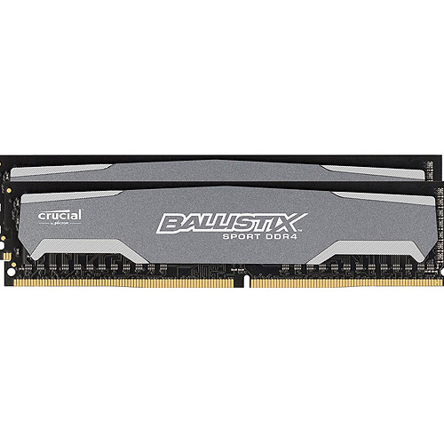 Crucial 16GB Kit (8GBx2) DDR4 PC4-19200 Unbuffered NON-ECC 1.2V 1024Meg x 64