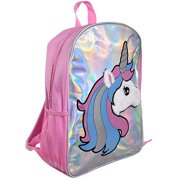 "Unicorn Holographic & Plush 16"" Backpack"