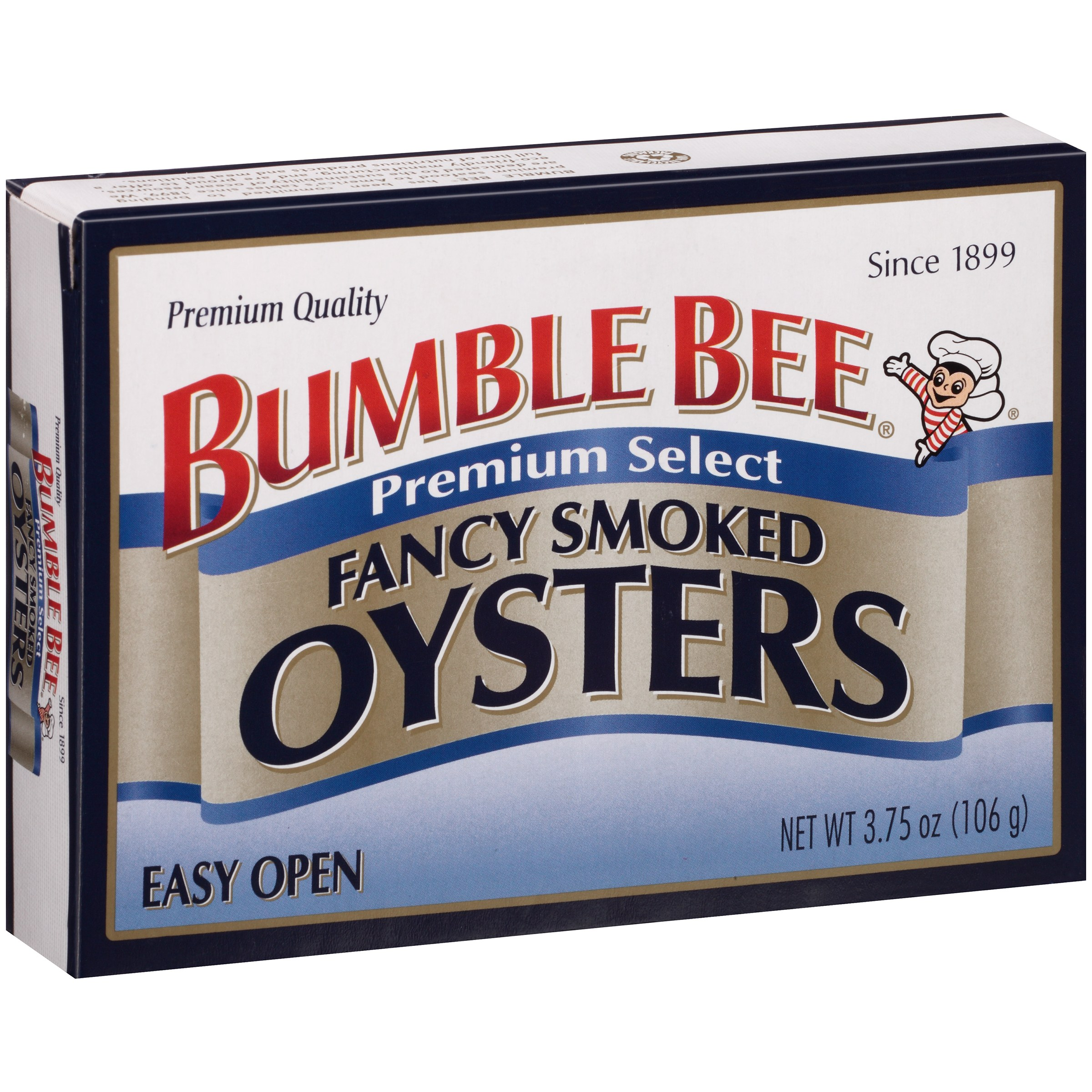 Bumble Bee Premium Select Fancy Smoked Oysters, 3.75 OZ by Bumble Bee Seafoods