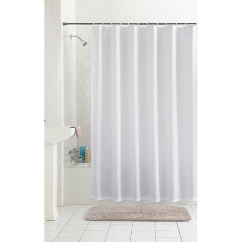 Mainstays Waffle Fabric Shower Curtain Walmartcom