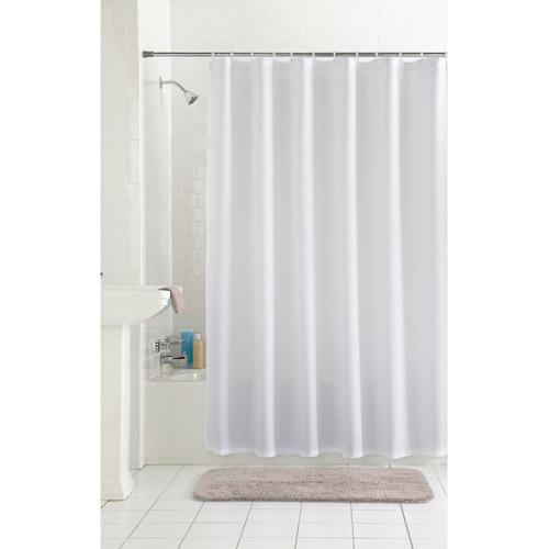 White Waffle Shower Curtain mainstays waffle fabric shower curtain collection - walmart