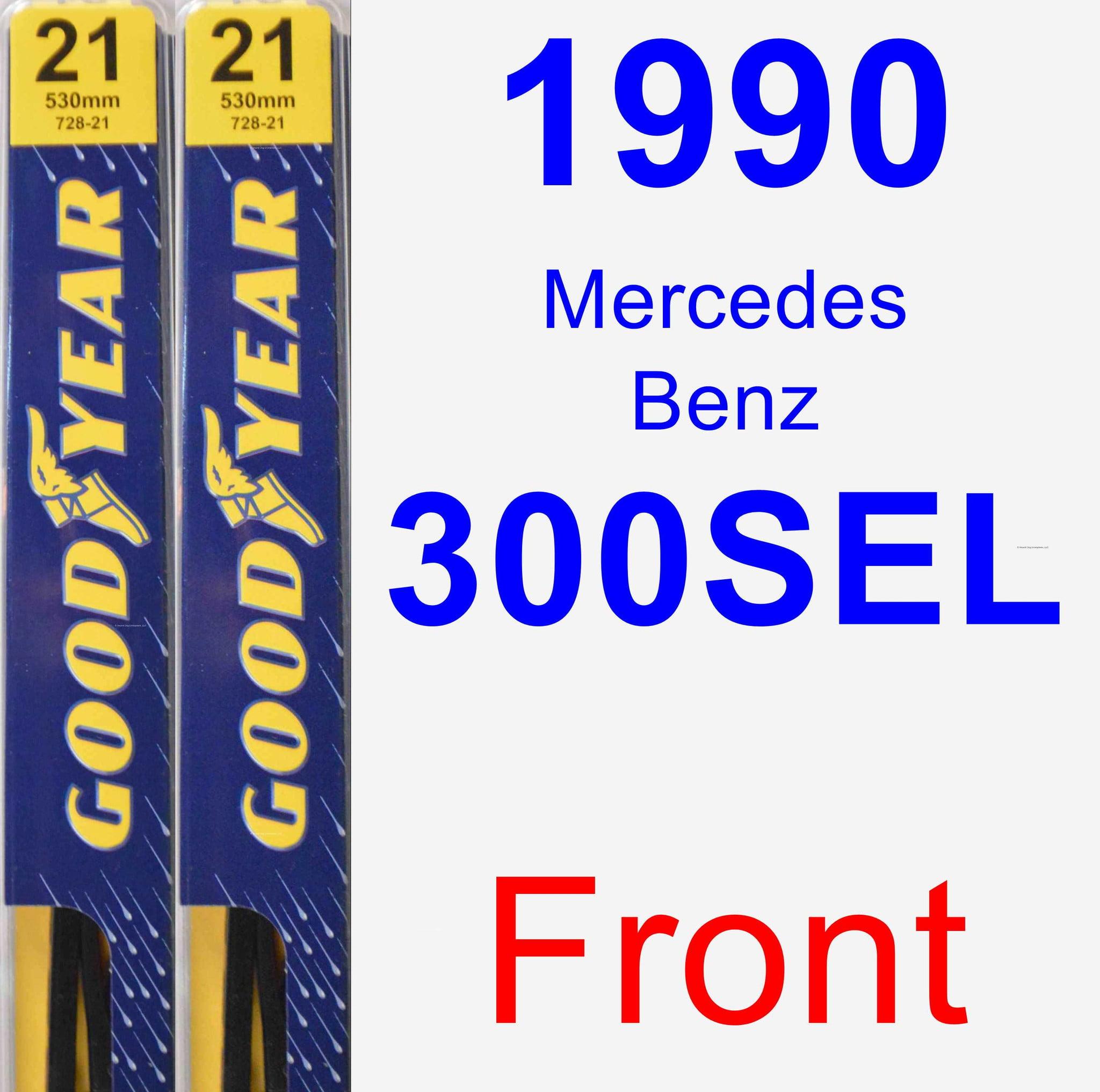 1990 Mercedes-Benz 300SEL Wiper Blade Set/Kit (Front) (2 Blades) - Premium